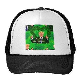 st patricks day donald trump trucker hat