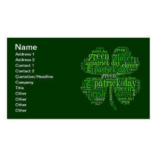 St. Patrick's Day Double-Sided Standard Business Cards (Pack Of 100)