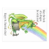 St. Patrick's Day Dragon postcard