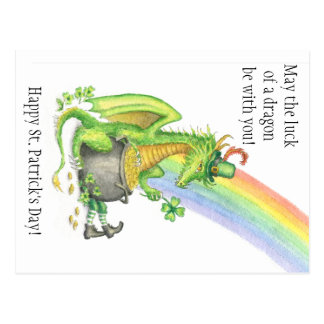 St. Patrick's Day Dragon postcard