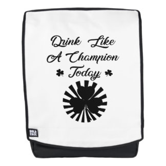 St Patrick's Day Drink Beer Funny Backpack