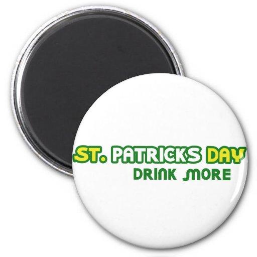 St. Patricks Day Drink More Parody 2 Inch Round Magnet