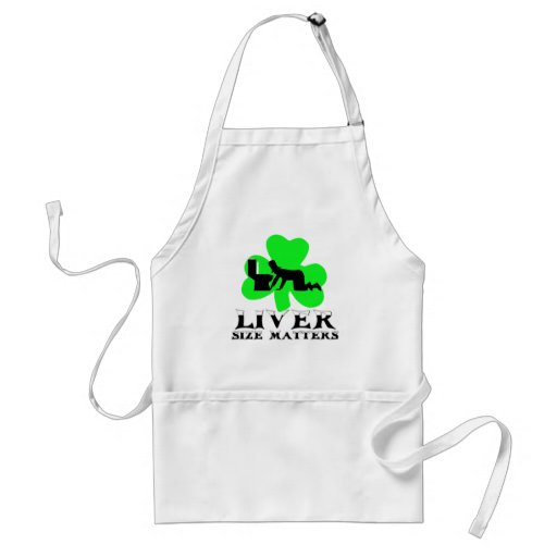 St Patrick's Day drinking Adult Apron
