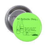 St Patrick's Day Drinking Button