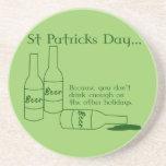 St Patrick's Day Drinking Coaster