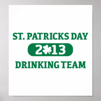 St. Patrick's day drinking team 2013 Print