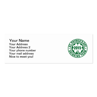 St. Patrick's day drinking team 2015 Business Card
