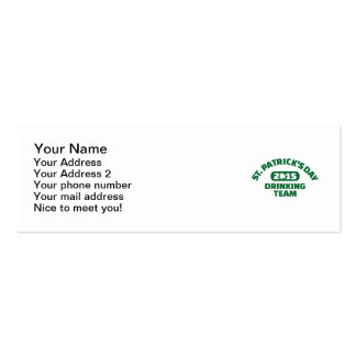 St. Patrick's day drinking team 2015 Business Card Templates