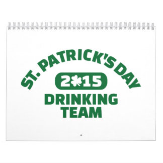 St. Patrick's day drinking team 2015 Wall Calendars