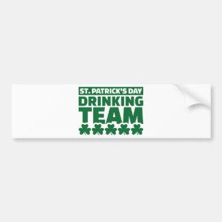 St. Patrick's day drinking team Car Bumper Sticker
