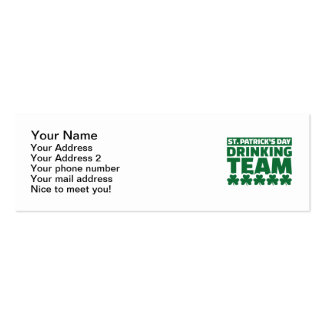 St. Patrick's day drinking team Business Card Template
