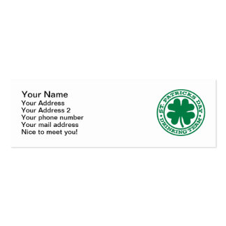 St. Patrick's day drinking team Business Cards