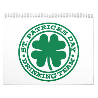 St. Patrick's day drinking team Calendars