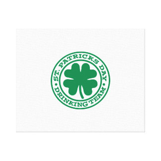St. Patrick's day drinking team Stretched Canvas Print