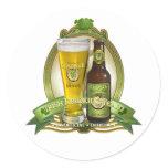 St. Patricks Day Drinking Team Classic Round Sticker