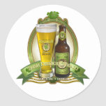 St. Patricks Day Drinking Team Classic Round Sticker