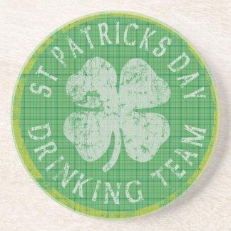 St Patricks Day Drinking Team Coaster