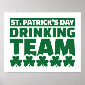 St. Patrick's day drinking team Print