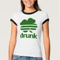 St Patrick's Day Drunk 4 Leaf Clover T Shirt