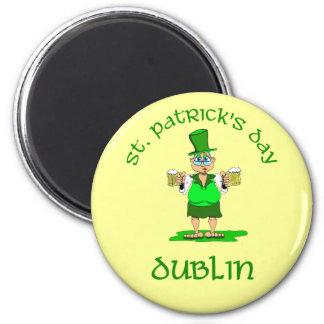 St Patricks Day ~ Dublin 2 Inch Round Magnet