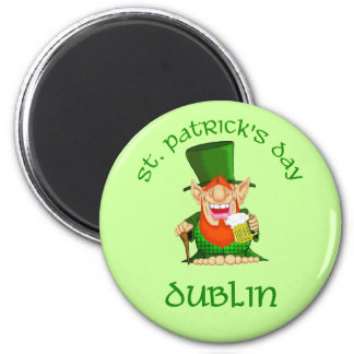 St Patrick's Day ~ Dublin 2 Inch Round Magnet