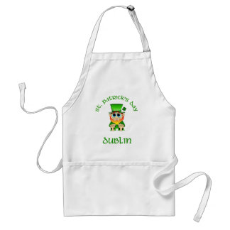 St Patricks Day ~ Dublin Adult Apron