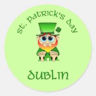 St Patricks Day ~ Dublin Classic Round Sticker