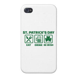 St. Patrick's day eat sleep irish iPhone 4/4S Covers
