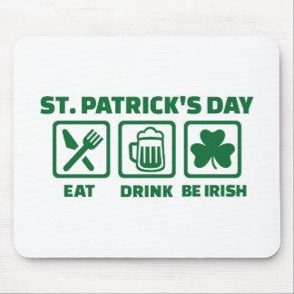 St. Patrick's day eat sleep irish Mouse Pad