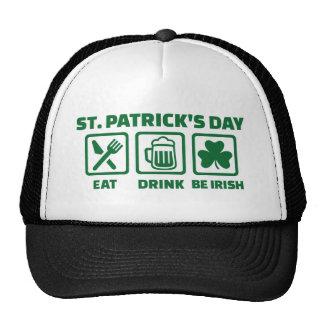 St. Patrick's day eat sleep irish Trucker Hat