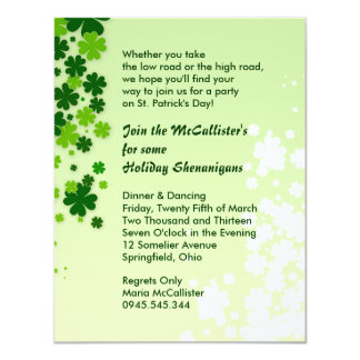 St. Patrick's Day Family Holiday Party Shenanigans Card