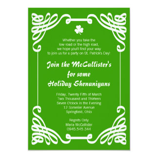 St. Patrick's Day Family Holiday Shenanigans Card
