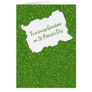 St.Patrick's Day for Grandma Card
