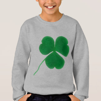 St. Patrick's Day for Kids Irish Green Clover Sweatshirt