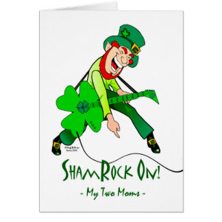 St. Patrick's Day for Rock Star Moms, Rock On Card