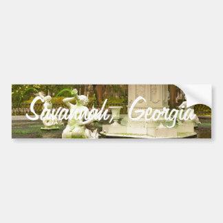 St Patrick's Day - Forsyth Fountain, Savannah, GA Bumper Sticker