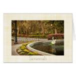 St Patrick's Day - Forsyth Fountain, Savannah, GA Greeting Card
