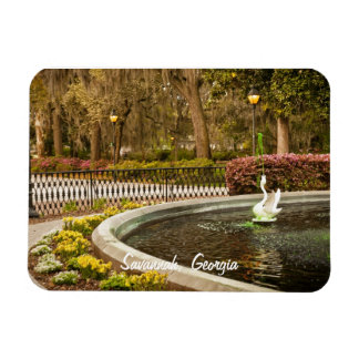 St Patrick's Day - Forsyth Fountain, Savannah, GA Magnet