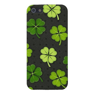 St Patricks Day four leaf clover iphone 5 case