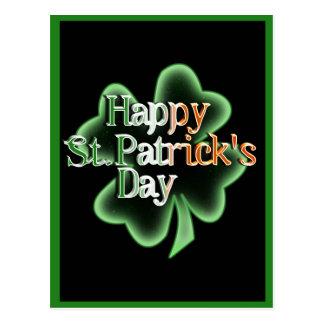 St. Patrick's Day Four Leaf Clover Postcard