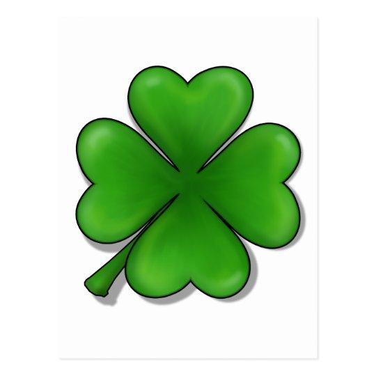 St. Patrick's Day, Four Leaf Clover Postcard