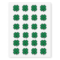 St. Patrick's Day Four Leaf Clover Temporary Tattoos