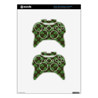 St. Patrick's Day Four-Leaf Clover Tiled Pattern Xbox 360 Controller Skins