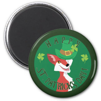 St. Patrick's Day Fox Magnet