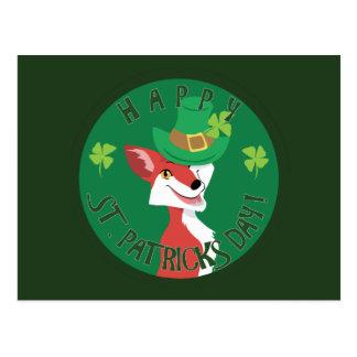 St. Patrick's Day Fox Postcard