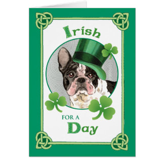 St. Patrick's Day French Bulldog Card