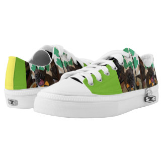 St. Patrick's Day Frenchbulldog and Boston Terrier Printed Shoes