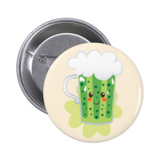 St. Patrick's Day Fresh Beer Pinback Button