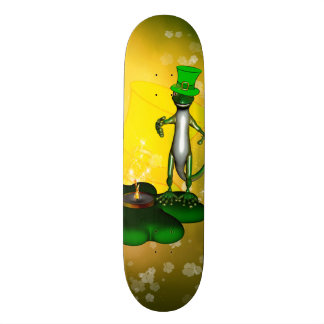 St. Patrick's Day, Funny, cool gecko Skate Deck
