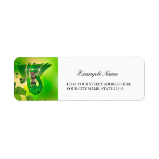 St. Patrick's Day, Funny, cool girl with hat Return Address Label